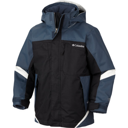 Ski You get a lot of jacket for the money with the Columbia Boys' Bugaboo Interchange Parka. Make that pluralyou get two jackets, one that offers serious waterproof breathable protection against stormy weather, and one that delivers fleecy warmth. They add up to versatile, reliable protection September through April. - $71.97