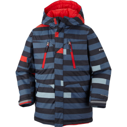 Ski It's just as important to look good as it is to be protected, which is why a young skier or boarder should look no further than the Columbia Boys' Ice Slope Long Jacket. Its long cut, stylish color scheme options, and optimal protection makes the Ice Slope Long Jacket more than just a coat, it's a statement. - $51.97