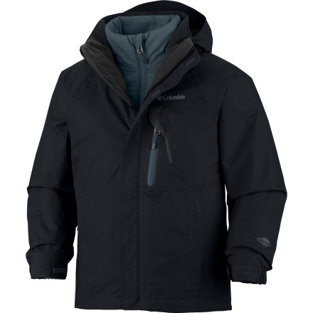 Ski Your little ripper will be completely protected from the elements this winter with the Columbia Boys' Tonpaite Interchange Jacket. this 3-in-1 jacket defines versatility with a wear-alone insulated liner and a shell you can zip it into. - $98.42