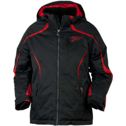 Ski You watch your son size up a jump, go for it, spin through the air, and land all in one piece and still wearing his Obermeyer Boys' Merlin Jacket. It's like magic. You see lots of the Merlin jacket and terrain park in his future. - $98.67