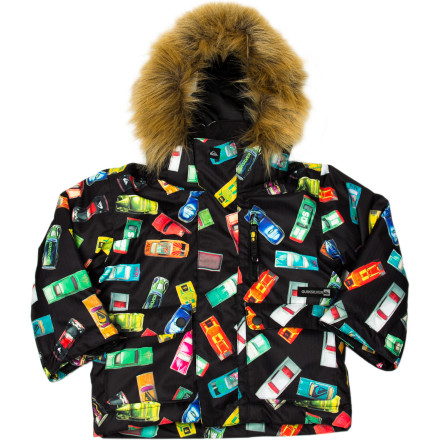 Ski If your kid's so cold that he wants to hide out in the lodge, he might miss out on the fun of a lifetime of playing in the snow can bring. The Quiksilver Little Boys' Shift Jacket keeps your soon-to-be die-hard shredder cozy and warm while he's learning to balance on his board. - $49.50