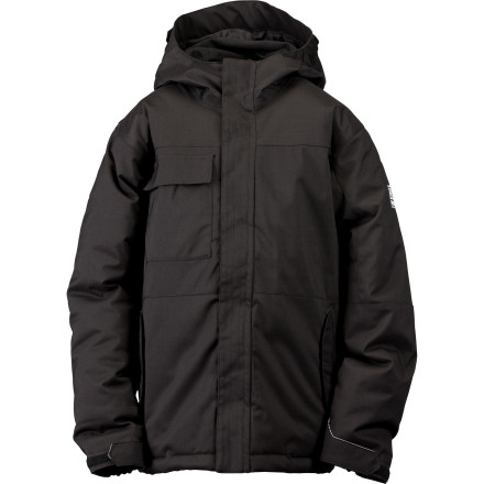 Ski When the mercury starts dropping and the snow starts piling up, throw on the Ride Boys' Cobra Snowboard Jacket, grab your board, and hit the slopes. With 200g synthetic insulation, the Cobra keeps you warm when nature's bringing her worst. - $51.98