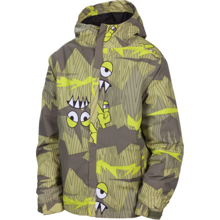 Ski Does your kid routinely hang out in wintery forests populated by mythical animated creatures' If so, the 686 Camotooth Insulated Jacket will keep him warm, dry, and all but invisible. Plenty of insulation and Infidry-5 fabric hold off the elements, while the Youth Evolution extension system makes short (tall') work of unexpected growth spurts. - $80.00