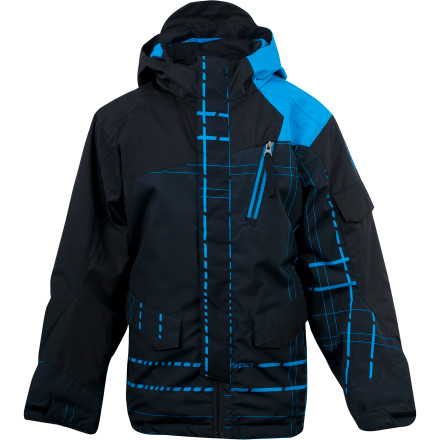 Ski Your little guy looks up to freestyle skiing legends and spends his days in the park learning the ropes. He wants to look the part and you want him to be warm and dry, so send him to the hill in the Spyder Rail Jacket for Boys. Available in a mix of prints and colors, the Rail jacket has all the cool factor your little guy demands while the waterproof and breathable shell stuffed with ThermoWeb insulation keeps him warm, dry, and happily slipping and sliding all day long. - $104.97