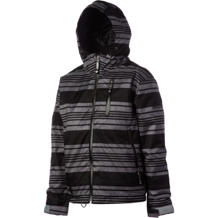 Ski Sessions didn't skimp on features for the Techy Heather Stripe Boys' Snowboard Jacket just because it's for kids. It has a 10K-rated DWR-treated fabric that repels moisture and protects against harsh weather, and 120g insulation keeps your ripper toasty when temps dip. So when all the other kids retreat to the lodge for hot cocoa, he's still going back to the chairlift for more. - $55.98