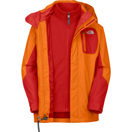 Ski Give your boy multi-season options with The North Face Boys' Atlas Triclimate Jacket. Featuring a rugged HyVent shell and cush polyester liner, the Atlas keeps junior covered at recess and up the mountain. A removable hood allows him to customize his style and tailor his comfort, while ample pockets keep him organized. - $82.47