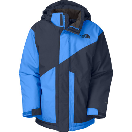 Ski The advantage of layering a sturdy shell like The North Face Boys' Brightten Jacket over separate insulating layers is that, if temperatures rise throughout the day, it's easy to shed a layer and keep shredding the hill. - $82.47
