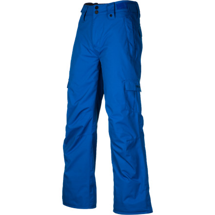 Ski The Nitro Decline Boys' Snowboard Pant offers solid weather protection for a reasonable price, and comes in a grip of fresh colors to match any outerwear kit. Adjustable waist tabs mean you can buy 'em on the big side and get multiple seasons of use without risking an accidental de-pantsing in the lift line. - $45.48