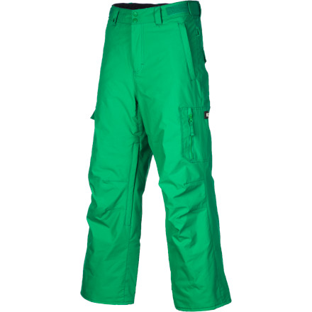 Ski The Quiksilver Boys' Surface Pant use lightweight insulation to keep Junior's legs warm even during marathon shred sessions, when he stretches morning powder sessions into night-shredding park parties. You might not know where he gets the energy for 'round-the-clock riding, but at least you'll know that he's not freezing his butt off. - $45.00