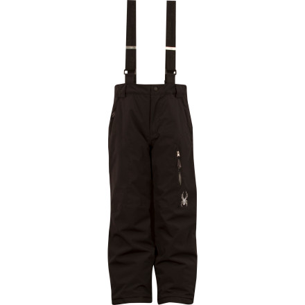 Ski Keep your go-go-go kid on top of his game with the Spyder Boys' Propulsion Pant. Backed with an Xt.L laminate, Spylon+ DWR coating, and taped critical seams the Propulsion provides storm-ready protection when he skis or boards, while the ThermaWeb insulation keeps the shivers away. - $90.97