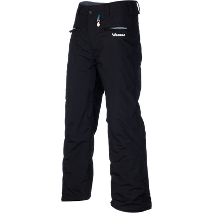 Ski When he's tearing down the mountain, he's burning up and sweating like a pigand when he's riding the lift, he's chattering and shivering from the cold. The Volcom Boys' Polar Insulated Pants let your boy regulate his temperature thanks to breathable fabrics and venting to keep him cool on his way down and insulation to keep him warm on his way up. - $48.98