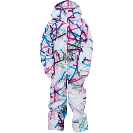 Ski The Spyder Little Girls' Bitsy Harness Sassy Suit makes your life a million times easier both on and off the slopes. Spyder added a built-in harness to the Little Girls' Bitsy Harness Sassy Suit so you can keep your little skier out of trouble on the hill. When she's about to careen through a ski lesson, simply grab the back handle and re-direct her momentum; it also comes in handy to haul her up after a fall, or help her onto the chairlift. For backyard snowman-building sessions, simply zip off the handle. - $125.97