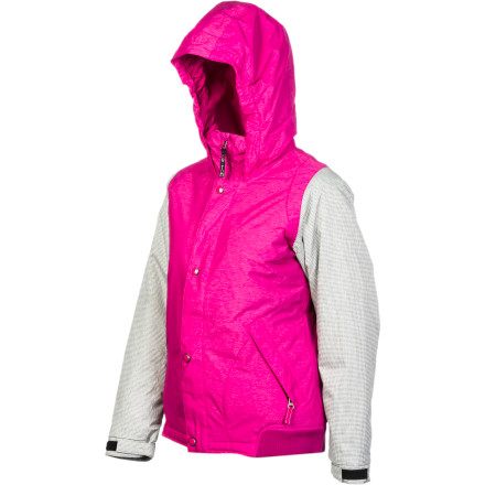 Ski The Burton Girls Dulce Jacket is a strong subscriber to the mantra of 'look good, feel good,'  walks the walk by combining the aesthetic of a track jacket and the proven weather-beating properties of Aquapel DWR-coated DryRide Durashell material and Thermacore insualtion. - $67.48