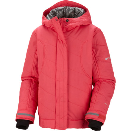 Ski Even though it looks really cool, that's not why Columbia lined the Girl's Winter Spark Jacket with its Omni-Heat thermal reflective fabric. Rather, it's because this high-tech lining boosts this stylish jacket's warmth factor, so you don't need a lot of bulky insulation to stay toasty on the mountain. - $64.97