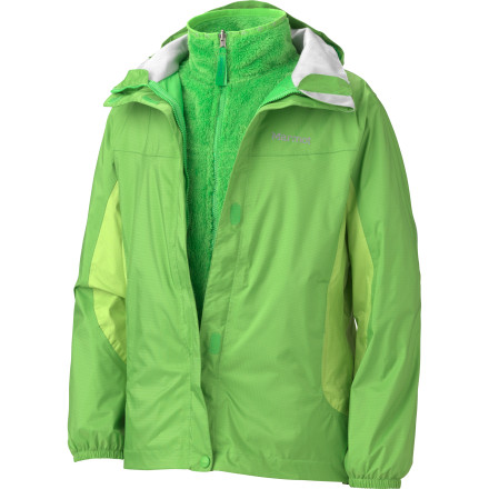 Ski Your girl deserves the best in winter wear, and the Marmot Northshore 3-in-1 Jacket will keep her warm and comfy through the roughest of downhill runs and bus-stop walks. Made with Marmot's PreCip Dry Touch technology, this weather-blocking and breathable jacket makes sure that even snow storms don't dampen her day. And when the snow melts and the trees start budding, she can enjoy wearing the silky soft raschel fleece liner jacket on its own. - $86.97