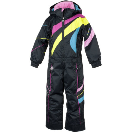 Ski Before sending your little lady off to ski school, suit her up in the Obermeyer Astro Snow Suit. She'll love the bright colors while you'll love how the waterproof shell fabric and Permaloft insulation keep her comfortable and dry all day. The reinforced seat and knees provide the durability young skiers need when they are perfecting their turns and the I-Grow hems and sleeves can be let out if she grows a few inches before next season. - $107.67