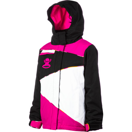 Ski The Paul Frank Girls' Julius Zig-Zag Insulated Jacket equips your girl with proven weather-beating tech, powered by 686 and styled by Paul Frank so she can have her powder and look just plain cute, too. Infidry-8 technology, zonal insulation, and durable face fabric team up to keep the Zig-Zag carving up the hill while Paul Frank holds it down on the fashion front. - $38.99