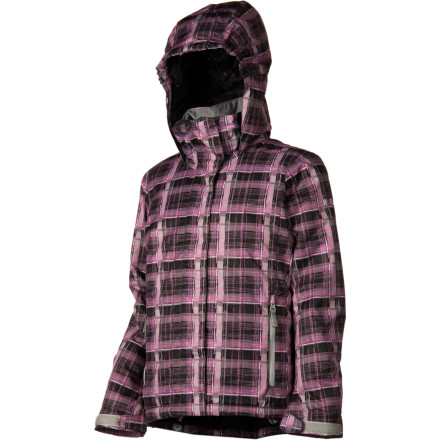 Ski The Roxy Girls' Willow Girl Jacket uses strategically placed insulation and a water-blocking DWR finish to keep your little lady warm and dry while she's perfecting her skills and learning her way around the mountain. Cool styling gives her the look she wants so she'll feel pretty as a princess while she's linking turns from the top of the mountain to the base lodge. - $50.00