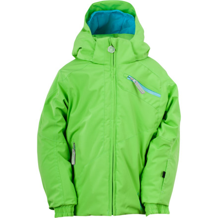 Ski The Spyder Little Girls' Bitsy Mynx Jacket combines fun fashion with sensible utility, so your next-generation skier can tackle the slopes in cozy style. This feature-rich jacket packs in the tech of a grown-up ski jacket so she won't be left behind when it comes to weather protection and function. - $119.96