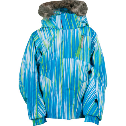 Ski Just like the big-kid version, the Spyder Bitsy Lola Jacket is made for stylie, snowy fun when the temps drop and flakes dump. Every future ripper should learn to look good in shred weather. - $89.97