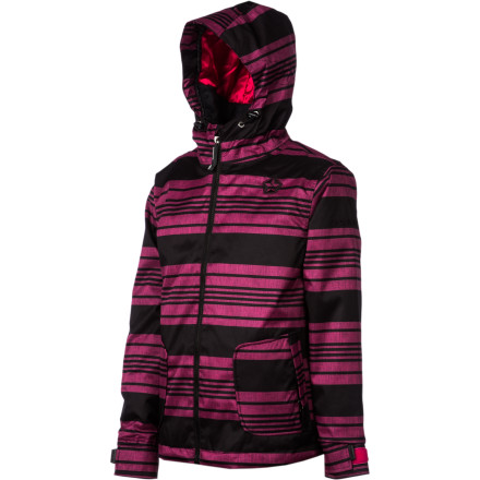 Ski If your girl is the type to spend every waking moment of winter in the snow, then she'll be stoked you got her the Sessions Munchie Heather Stripe Girls' Snowboard Jacket. It has a breathable, water-resistant shell to help her stay dry and synthetic insulation to keep her toasty throughout the day so she can have fresh powder for breakfast, lunch, and dinner. - $43.49