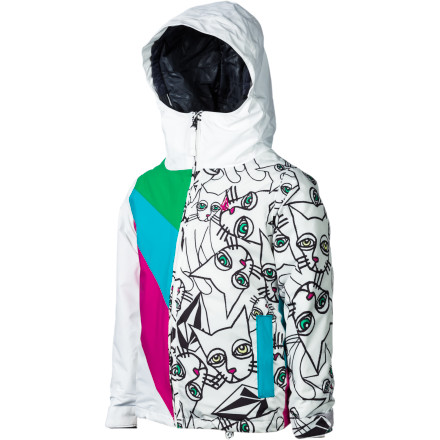 Ski Brave the elements for longer in the Volcom Bird Girls' Insulated Jacket. 100g insulation helps keep you cozy so you can keep riding when mom and dad head for lunch at the lodge. - $38.99
