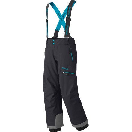 Ski Don't be fooled by the sweetheart look of the Marmot Girls' Starstruck Pantsthese hardcore ski bottoms mean business. Thanks to a water-blocking MemBrain laminate, your up-and-comer will have the protection she needs to rock the hill from first chair to last lift. - $65.97