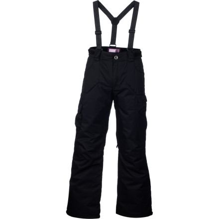 Ski Whether you're on your way to the mountain or you have a date with your sled, put on the Orage Girls' Jackie Pant. Its Prime 10 laminate and ECO DWR coating help shield you from a sudden ski or sled crash into fluffy powder, while its inner thigh vents help keep you cool while you build a snow fort or hike the park and pipe with friends. - $83.97