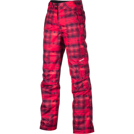 Ski The Rossignol Girls' Cargo PR Pant sets your fashionista-gal apart from the norm. Its freeride look, stylish pattern, and unrestricted fit makes her the talk of the lift line, which she's more than happy with. Plus it's light weatherproofing and synthetic insulation keeps her comfortable and out on the slopes longer with the family. - $79.96