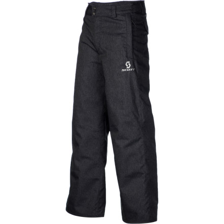 Ski Let her rip all day in the weather-defying, bone-warming Scott Girls' Slope Pant. Yummy Microloft insulation keeps her comfy all day while gaiters keep the snow and wet from soaking her shred-ready feet. Your young ski diva will hit the hill with a splash of bold color and super style. - $56.97