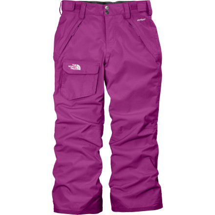 Ski With a little support of The North Face Girls' Freedom Insulated Pant, you've decided to let your not-so-little snow bunny ride the resort lower lifts by herself. Thanks to these trustworthy pants and their Heatseeker insulation and HyVent waterproof breathable fabric, she'll stay cozy on chilly days and protected from snow when the skies open up. - $65.97