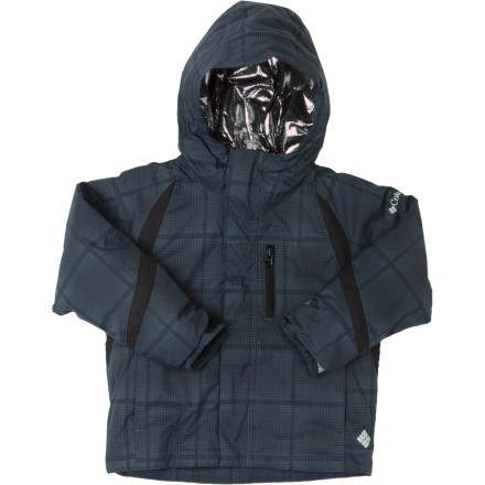 Ski Your boy will love the Renegade Warmth Jacket from Columbia. Fabricated with Omni-Heat's thermal reflective lining and 100g of polyester insulation your boy will stay warm all winter long. The durable waterproof breathable nylon fabric is Omni-Tech seam-sealed to create a shell that deters rain and wind. - $52.22