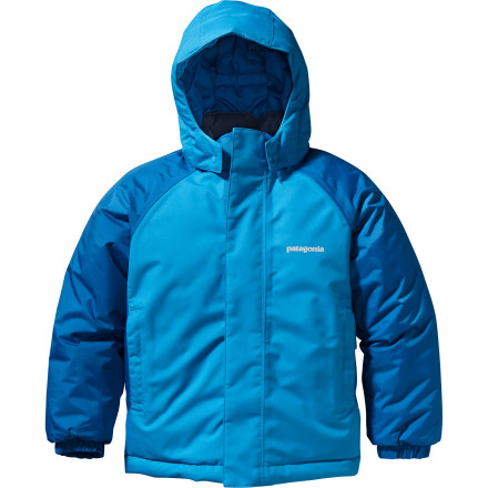 Ski The Patagonia Toddler Boys' Snow Pile Jacket keeps your little snow monster warm and toasty whether he's building snow-people in the backyard or trying out his ski legs for the first time. - $65.45