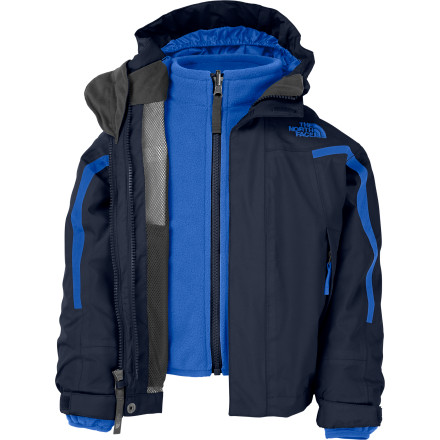 Ski If you're worried that a winter jacket may only be useful for a short period in your region, then check out the multi-season, three-in-one The North Face Toddler Boys' Nimbostratus Triclimate Jacket. With its removable fleece liner jacket, waterproof membrane, and durable outer material, the Nimbostratus Triclimate gives you multiple options to outfit your little man for both the change of seasons and the unpredictable weather within each one. - $77.97