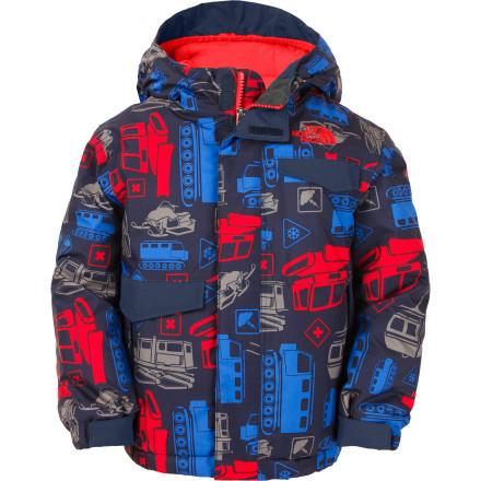 Ski The wild, colorful print of The North Face Toddler Boys' Blaeke Insulated Jacket certainly suits the wild nature of your snow-monkey, but it's the heavy insulation and waterproof fabric that truly make the Blaeke the ideal coat for keeping the fun in winter. - $65.97