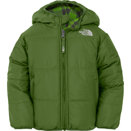 Ski Whether it's decorated with the remnants of a tragic chocolate ice cream cone malfunction or mud after a fun day in a half-inch of fresh snow, The North Face Toddler Boys' Perrito Reversible Jacket flips in a flash. Not only that, but it'll keep your tot cozy and ready for winter fun, messy or not. - $47.97