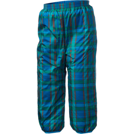 Ski When the snow starts blowing, and the mercury drops, wrap your little guy up in the Patagonia Toddler Boys' Puff-Ball Reversible Pants. These cozy little snow pants seal the cold out and help keep the snow off so he'll learn to enjoy the snow from his very first season. - $37.95