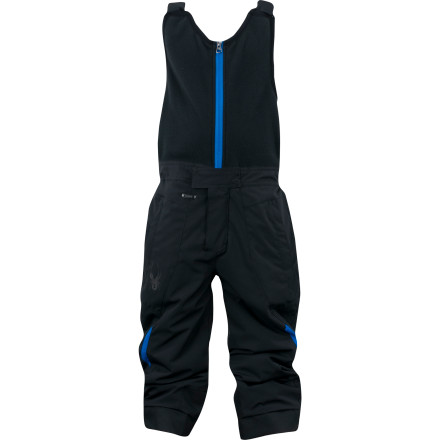 Ski The Spyder Toddler Boys' Mini Expedition Pant gives your little snow monster comfy protection from snow and cold so he can spend the winter outdoors, not trapped inside the house. An Xt.L laminate teams up with a high-tech Spylon DWR finish and warm ThermaWeb insulation. Whether he's building snowmen in the backyard or trying out his ski legs, these bibbed pants will keep him feeling good. - $76.97