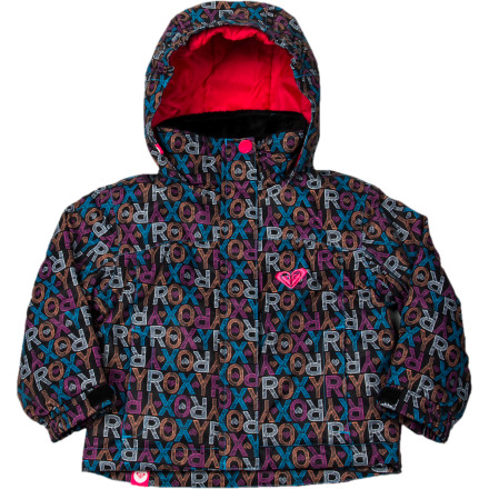 Ski Her first winter on the mountain will be a lot more fun if she's warm, and the Roxy Little Girls' Mini Jetty Jacket uses warm all-over insulation to keep her feeling great when she's playing in the snow. Zip her up in this winter-ready jacket and turn her loose on the hill ... even if it's just the bunny hill. - $44.00