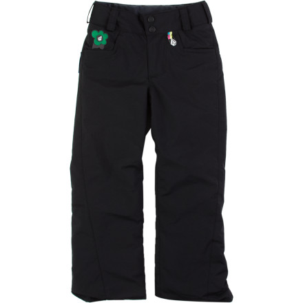 Ski Equip her with the Volcom Little Girls Tweet Insulated Pant and watch how she progresses from the beginner terrain to blue-squared slopes. Cozy insulation keeps her comfy while Grow-Tech technology gives you peace of mind when she has a mid-winter growth spurt. - $54.98