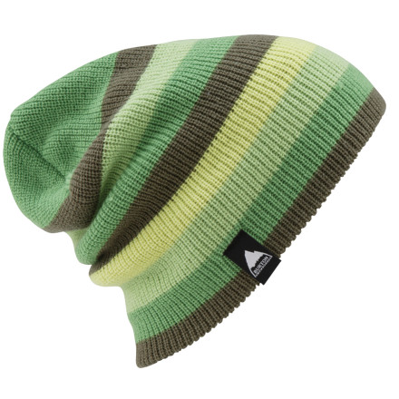 Entertainment Dude, admit it: you just want the Burton Serviced Beanie for the name. Lets be clear, its going to take a lot more than this multi-striped slouch beanie to get you some. Although, now that you mention it, it is a pretty sweet-looking hat A sure, you need all the help you can get. - $11.37