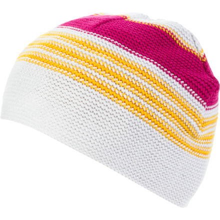 Icebreaker kept it simple with the Powder Beanie. A single layer of Sport yarn provides a warm, snug, comfortable fit, while extra length allows for full ear coverage on extra cold days. Stylish stripes complement an Icebreaker pip label, so people know you've got a nose for quality. - $12.23