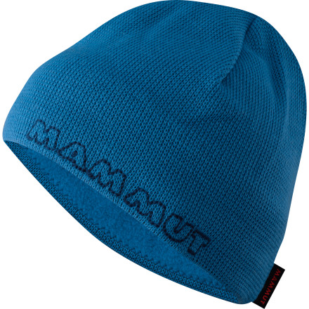 An embroidered mammoth tranquilly makes his way along the edge of the Mammut Placid Beanie; you're feeling pretty mellow, too, thanks to the cozy warmth of the hat's fleece lining. - $16.22