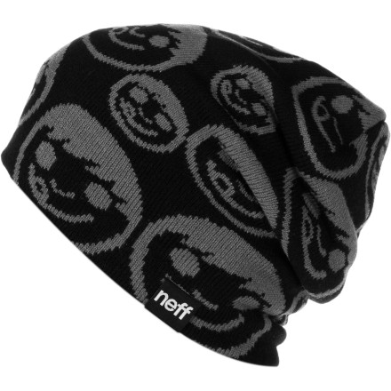 Skateboard Sometimes, sometimes, sometimes the Neff Repeater Beanie get's off its rocker and skips, skips, skips, skips, skips a little. Toss on this acrylic dome piece and try to keep from saying the same thing twice in one conversation. - $23.95