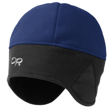 Entertainment Enjoy even those blustery cold winter days with the Outdoor Research Wind Warrior Fleece Hat. WindStopper Technical Fleece keeps out the gusts of old man winter, while Polartec Wind Pro ear panels let you hear the yells of your fellow wind warriors as they beg you to slow down on your evening run . Four-panel crown construction and a contoured ear band give an ergonomic fit and round out this comfy hat. - $35.95