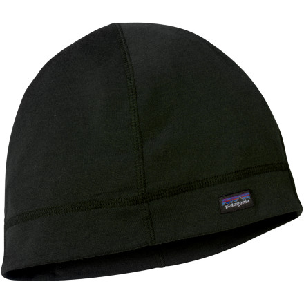 The Patagonia Merino 3 Midweight Beanie keeps your noggin warm on dawn patrols and and evening strolls alike. Made of chlorine-free merino wool, this winter hat breathes when you heat up, and won't carry a stank after you work up a sweat. - $22.75