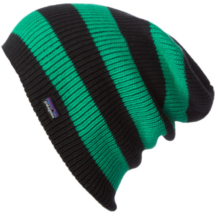 The Patagonia Sloucher Beanie serves up extra room for a low-riding look, or you can roll it up when you want a more form-fitting style. - $25.35
