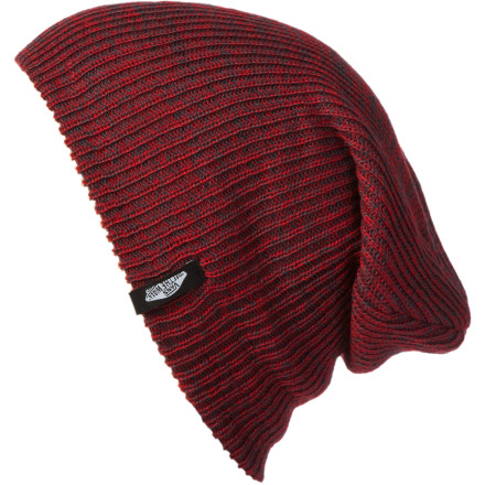 Skateboard Understandably, you have become too disinterested in petty annoyances to bother with putting forth the effort to stand up straight. What you need is a hat that complements your perpetual slouch. Vans' designers had you in mind when they created the Mismoedig Beanie. - $13.56