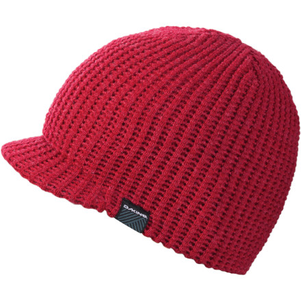 Snowboard The cold may try to deter the juices in your head from flowing, but the soft, lined DAKINE Waffle Visor Beanie keeps your genius goo going strong while the visor keeps the sun out of your observational orbs. - $14.96