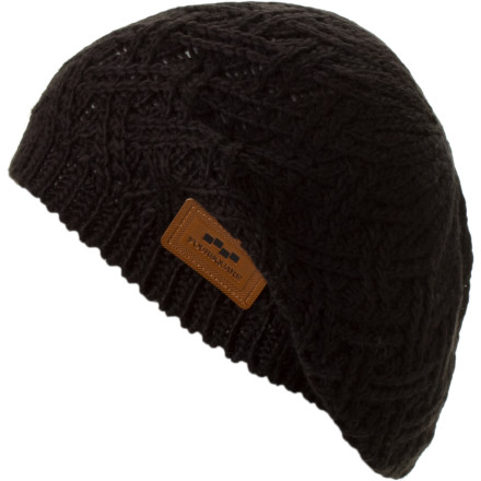 Snowboard Wear the Foursquare Women's Beret Beanie to Europe, or wear it while you sit on your couch looking at the Alps online and drinking French wine until you think you're in Europe. - $15.36